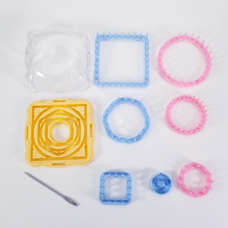 9Pcs//Set Knitting Loom Flower Pattern Maker Yarn Needle Knit Hobby DIY Tools Kit