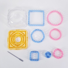 9PCS/set  Knitting Loom Flower Pattern Maker Wool Yarn Needle Knit Hobby Machine Sewing Tools Color Random