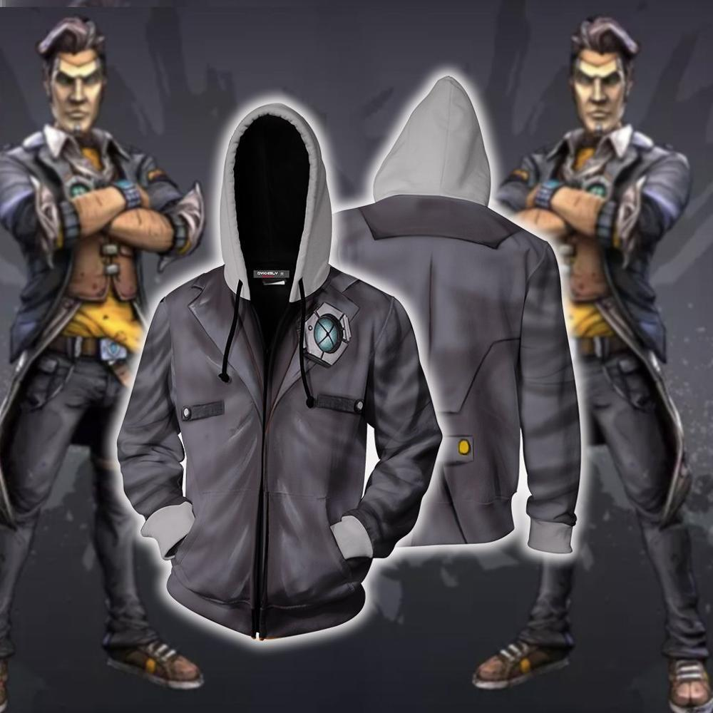 Game <font><b>Borderlands</b></font> Assassin Zer0 Hoodies Sweatshirts Cosplay <font><b>Costumes</b></font> Cartoon 3D printed fashion men women hooded Sports jacket image