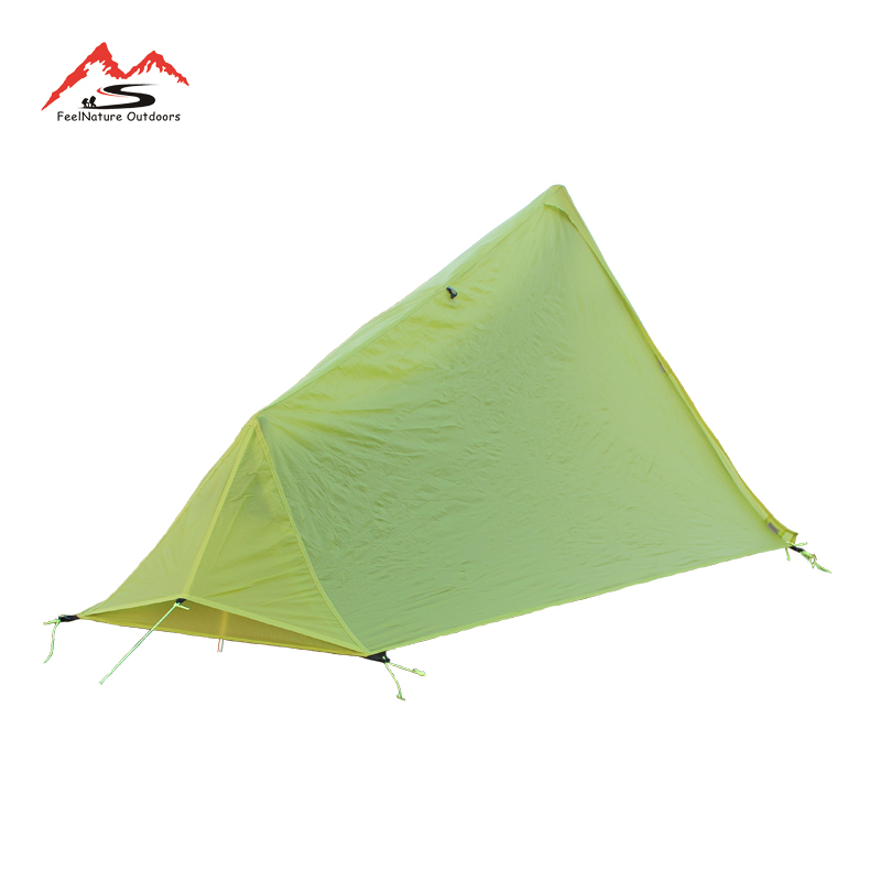 Image 5 - 780g only 15D nlyon double sides silicone oil waterproof single person Light weight camping tent for camping, hiking-in Tents from Sports & Entertainment