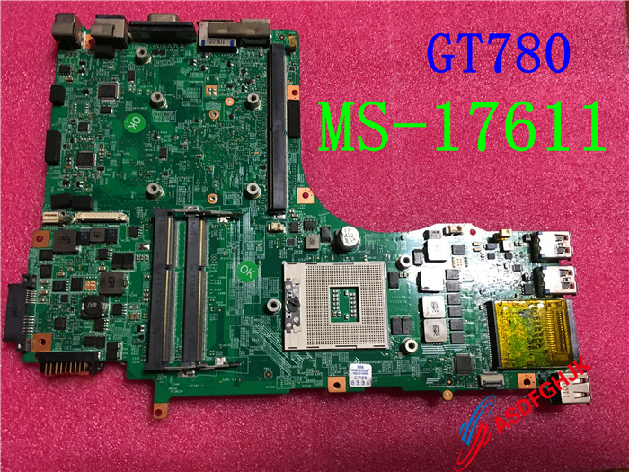 Original MS 1761 FOR MSI GT780 GT780DX LAPTOP MOTHERBOARD MS 17611 REV 1 0 1 1