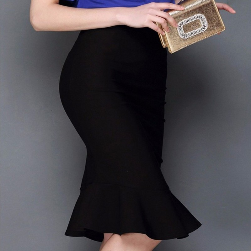 Free shipping New 2017 Spring Summer Style Vintage Skirt High Waist Work Wear Midi Skirts Womens Fashion