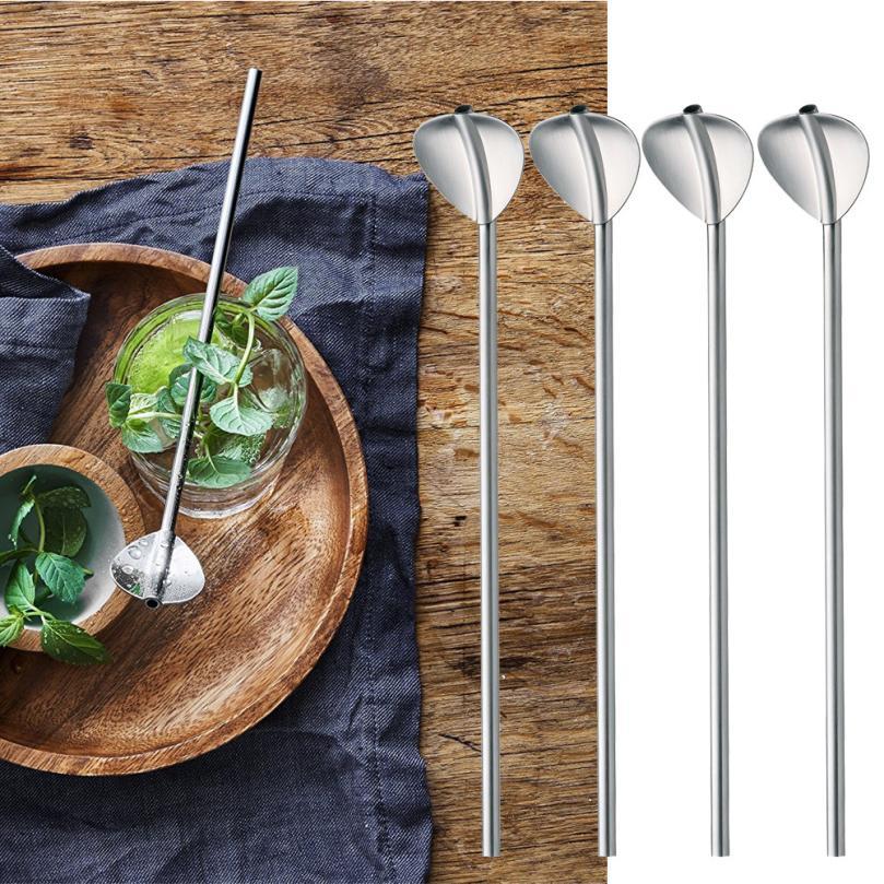 6 Pcs Stainless Steel Metal Drinking Straw Reusable Straws 1