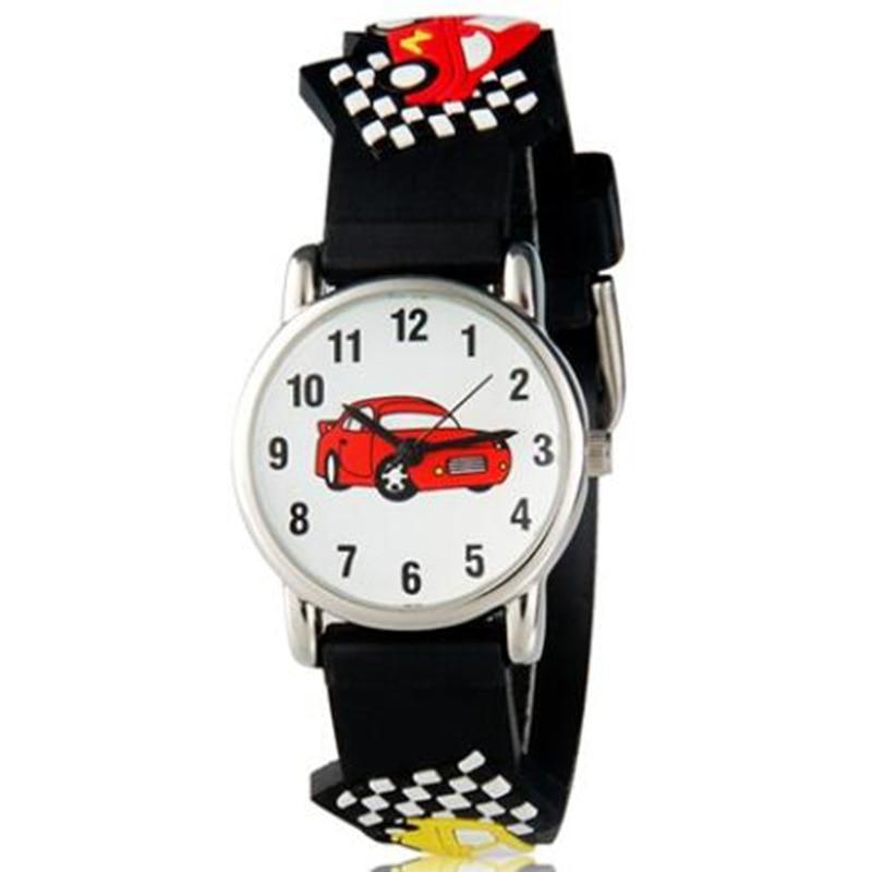 New 3D Cartoon Silicone Cars Design Watches Student Kids Wristwatch Fashion Children's Watch For Boy Clock Ladies Watch Relogio
