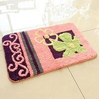 45 70 50 80 Cm Fluffy Carpet Flower Pattern Bathroom Kitchen Carpet Anti Slip Doormat Absorbent