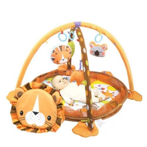 70 cm 3 in1 bébé tapis de jeu 0-24 mois bébé jouet jeu garçons filles tapis rampant éducatif jouer Gym enfants tapis jouets - 2
