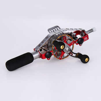 metal hollow reel Wire-speed automatic discharge play in the inner reel alignment rod refit the reel fishing vessel raft reel - DISCOUNT ITEM  5% OFF Sports & Entertainment