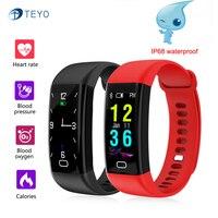 Teyo Heart Rate Monitor Smart Bracelet F07 Blood Pressure Fitness Bracelet Waterproof Wristband Watch Pedometer For