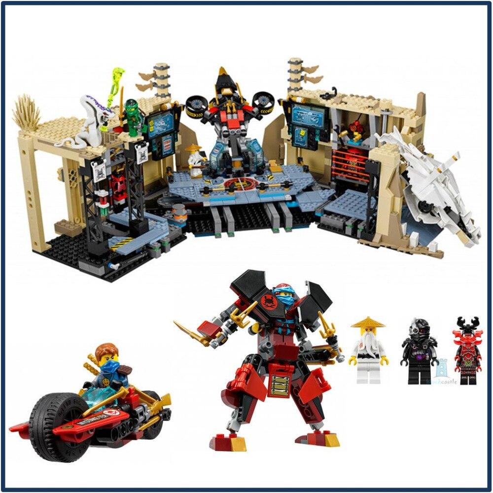 Lepin 06039 1351Pcs Ninja Figure Samurai X Cave Chaos toys building blocks for children Compatible with LegoINGly Ninja 70596 цена и фото