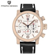 Mens Fashion Chronograph Watches PAGANI DESIGN Men Quartz Watch Sport Dive Male Clock Military Leather Wristwatch Relojes Hombre