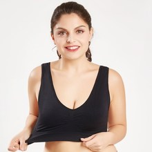 Plus Size Women's Seamless Bra With Pads