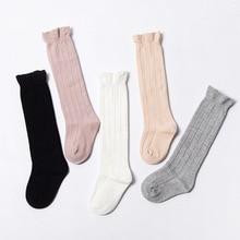 Girls Socks Calcetines Cotton Baby Lace Spring Infantil Knee-High Autumn Long Meia Sokken