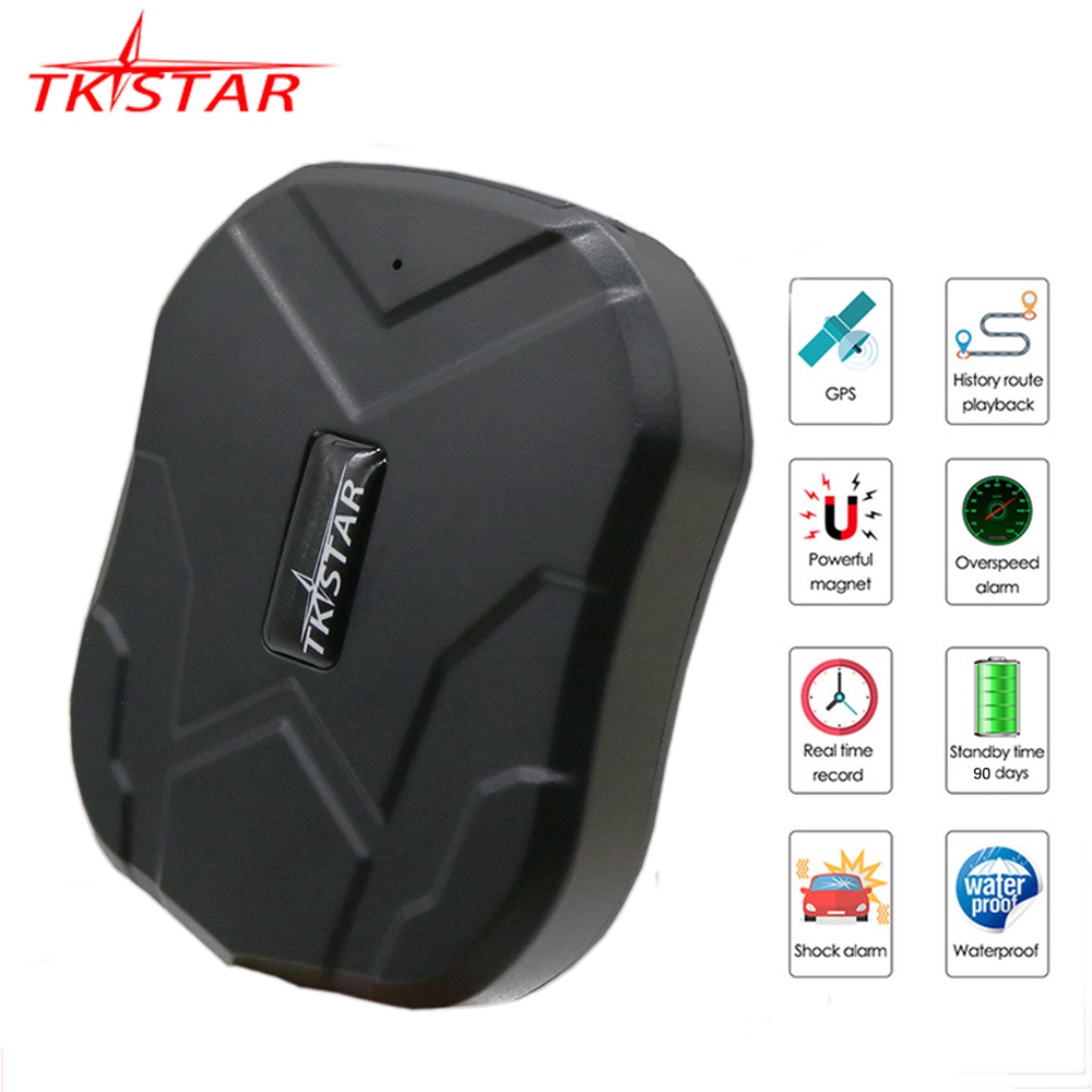 GPS Tracker Car 90 Days Standby TKSTAR TK905 GPS Locator Waterproof GPS Tracker Auto Magnet Voice Monitor Free Web APP PK TK915(China)