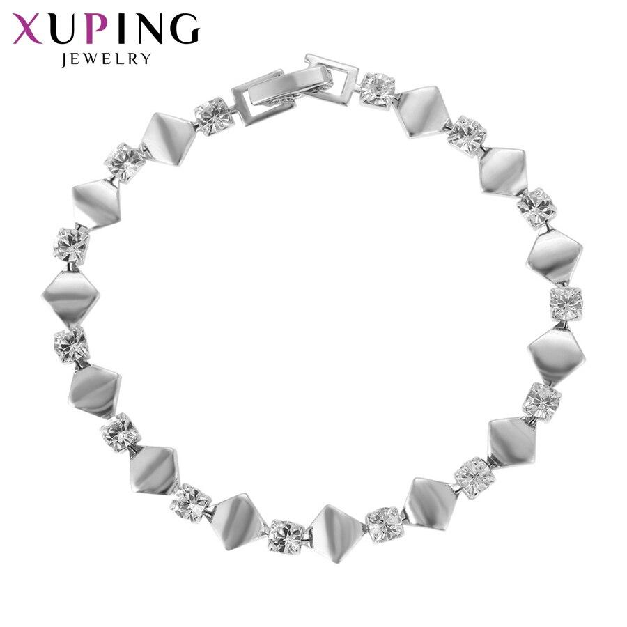 11,11 сделок Xuping Мода темперамент браслет ювелирные изделия с горный хрусталь для Для женщин Рождество подарок S80, 1-75052