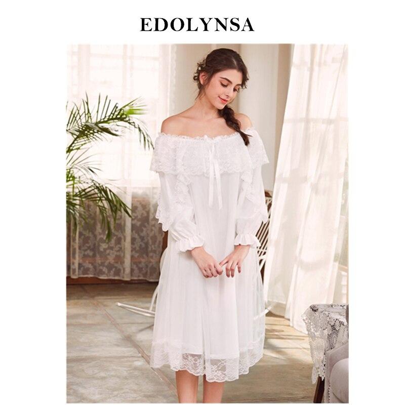 Nightgowns     Sleepshirts   2019 Sexy Sleepwear Nightdress Comfortable Nightwear Sleep & Lounge   Nightgown   Female Indoor Clothing#H516