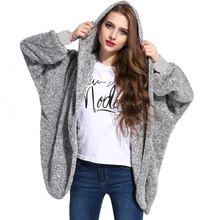 Women Warm Plush Teddy Coat Jacket  Plush size Female Fashion Open Front Hooded Coat Autumn Winter Fluffy Teddy Jacket For Women цены онлайн