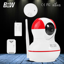 BW HD 720P IP Digicam P2P Wi-fi Wifi Movement Sensor + Gasoline & Smoke Detector Video Recorder Surveillance CCTV Cam Onvif Indoor