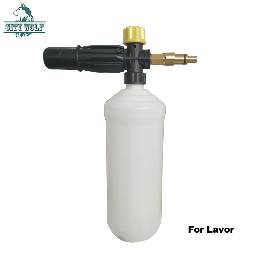City Wolf High Pressure Washer Snow Foam Lance Soap Bottle For Lavor Huter Sterwin Car Washer Accessory