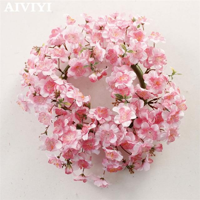 Simulation Wreath Cherry Blossom Garland Welcome Artificial Flower