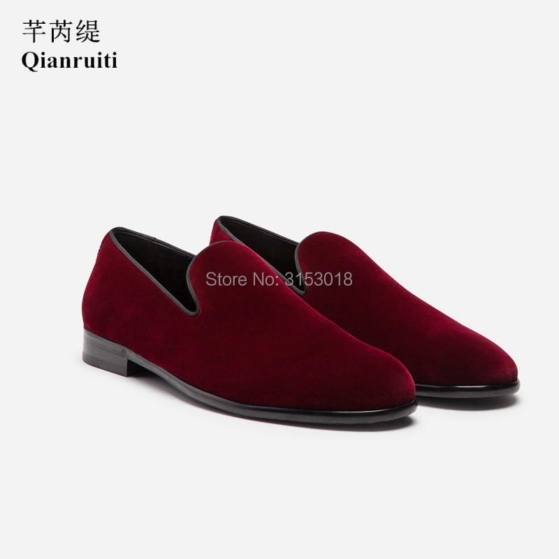 Классическая мужская повседневная обувь из бархата ручной работы; деловая модельная обувь без застежки; сезон весна; 2019; обувь для улицы; подарок - 2