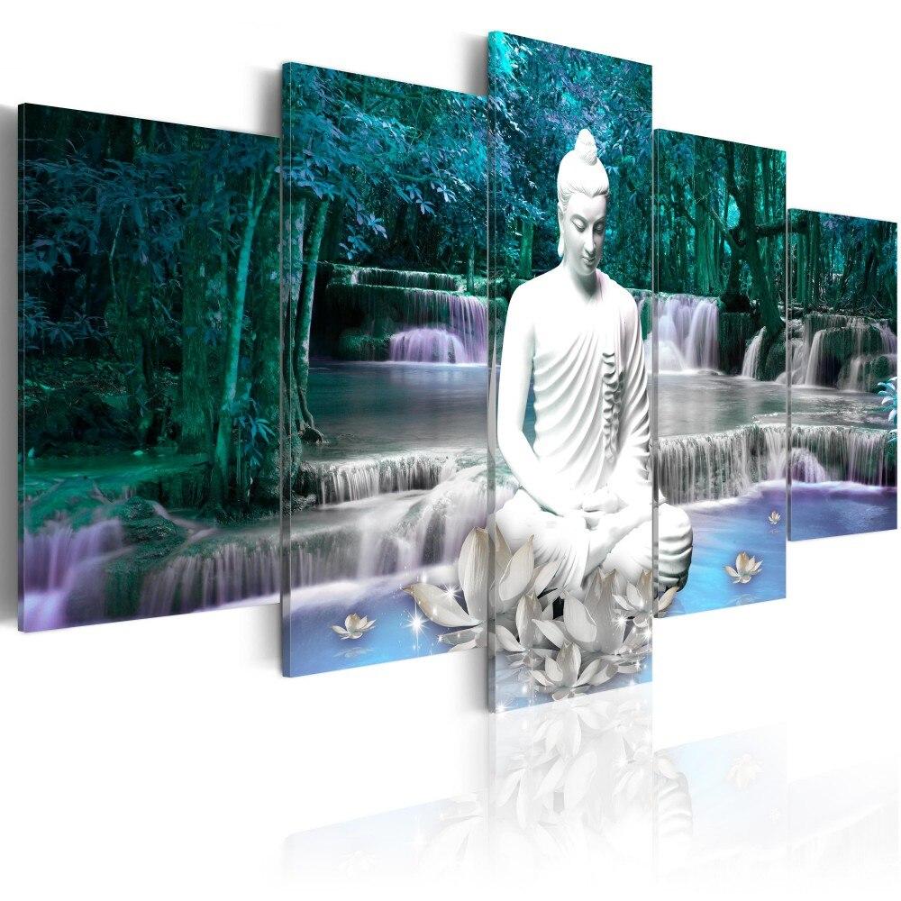 5 PCS Multi picture Diamond Painting Buddha Art Gifts Room Decor Diamond Mosaic Embroidery Religion Rhinestones Pattern gx