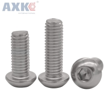 50Pcs M2 M2.5 M3 M4 ISO7380 Stainless Steel 304 Round Head Screws Mushroom Hexagon HEX Socket Button Head Screw Bolt цены