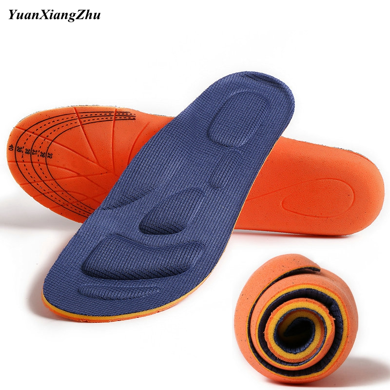 Mens and Womens Universal Sole Flat Insole Flat Foot Insole Support Insole Orthopedic Massage Mat Sports Insole