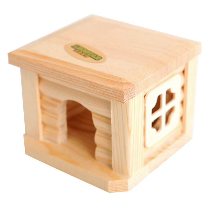 Mini Small Pet Wooden House CageWinter Windproof and Warm Nest Cave for Mouse Hamster Squirrel Baby Case Animals Accessories10