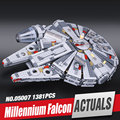 LEPIN 05007 1381 Unids Halcón Milenario Fuerza Despertar Star Wars Building Blocks Juguetes Para Niños Juguetes de Star Wars 10467