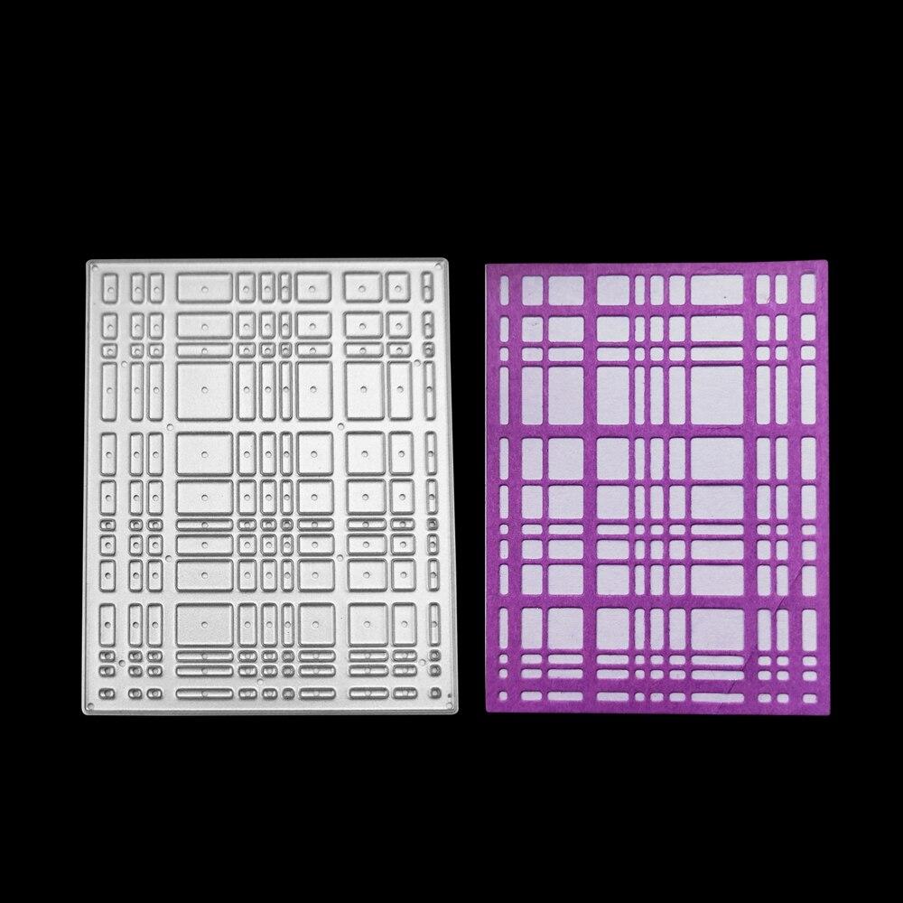 2018 новый 64*84 мм решетки фон металлический каркас углерода Сталь резки умирает DIY Скрапбукинг ремесло умирают фото приглашение карты декор