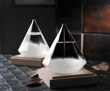 1PC Diamond Shape Storm Glass Weather Forecast Bottle Crystal chemistry vintage home decor christmas accessories JY 1191