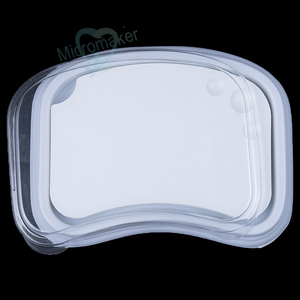Image 2 - New 1PC Dental Lab Ceramic Palette Porcelain Mixing Watering Plate Wet Tray