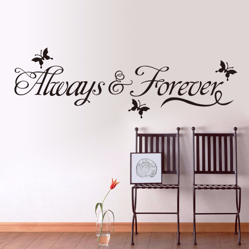 Creative Home Decor Plane Wall Stickers English Quote Always