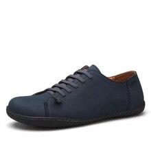 Größe 38-44 Männer Flache Schuhe Britischen Stil Männer Schuhe Oxford Blau Braun Schwarz Schuhe 2017 Herren Freizeitschuhe mode F40