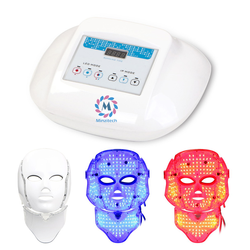 Red Blue Purple LED Light Therapy Skin Mask LED skin rejuvenation Beauty Mask LED Skin Care PDT Facial Mask rechargeable pdt heating led photon bio light therapy skin care facial rejuvenation firming face beauty massager machine