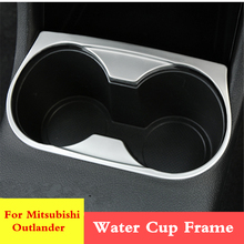 цена на Car Console Water Cup Holder Trim Frame Cover sticker Interior decoration For Mitsubishi Outlander PHEV 2018 2017 2016 2015 2014