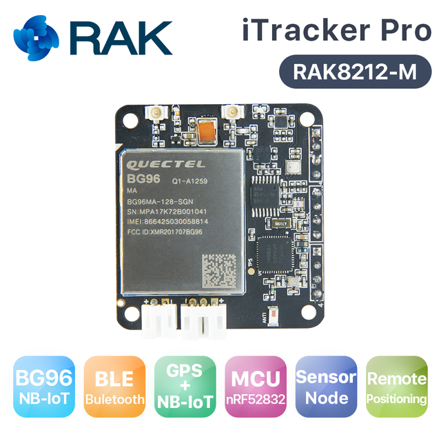 US $7 0 |RAK8212 M Low Cost version iTracker Pro Sensor node and GPS BG96  Module BLE+GPS+Bluetooth5 All in one cellular IoT module-in Replacement