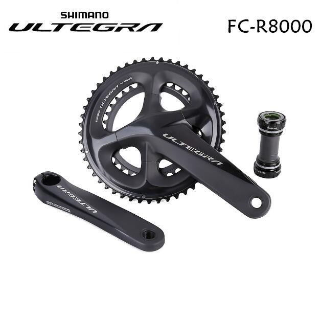 <font><b>Shimano</b></font> <font><b>Ultegra</b></font> <font><b>R8000</b></font> 11 Speed Road Bike bicycle <font><b>Crankset</b></font> 170mm 172.5mm 175mm 50-34T 52-36T 53-39T with BBR60 image
