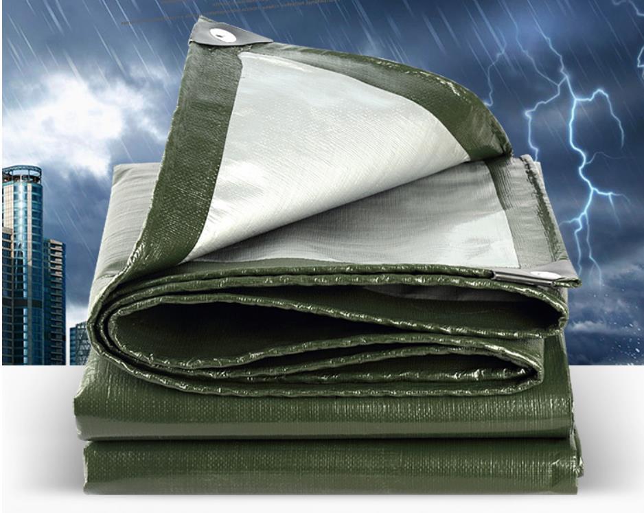 Adaptez le matériel imperméable extérieur vert d'armée de 10 m X de 12 m, couverture imperméable, bâche de pluie, bâche de camion. matériel de tente plus grand