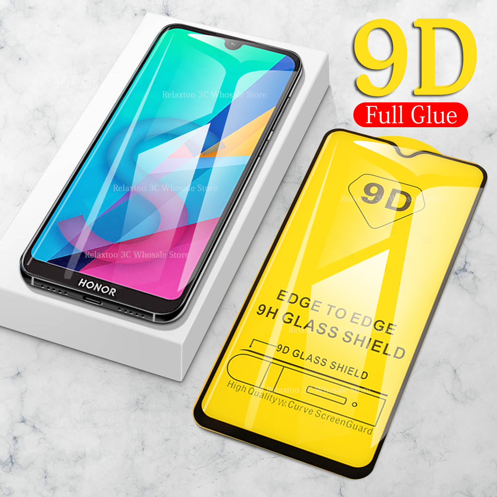 9D Full Glue Tempered Glass Honor 8s 8c 8x 9 Lite 10 Light 10i 20i Protective Glas On For Huawei P30 P20 Pro P 20 30 Safety Film