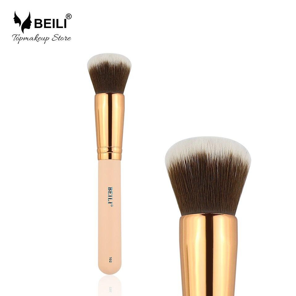 BEILI 102# Rose Golden Ferrule Synthetic Hair Concealer Foundation Single Contour Makeup Brush сумка guanwang сумки через плечо кросс боди