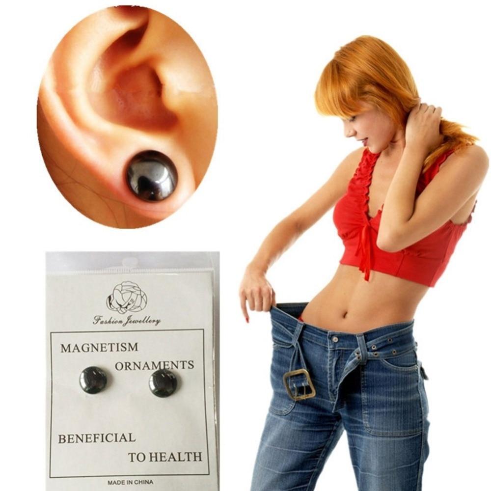 1 Paar Magnetic Abnehmen Ohrringe Abnehmen Patch Verlieren Gewicht Magnetische Gesundheit Schmuck Magneten Von Faul Paste Dünne Patch