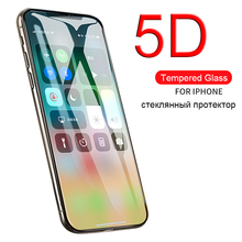 Real 5D tempered glass cover for Iphone XS Case for Apple I phone 6 S 6S 7 8 Plus X S XS Max XR ipone i8 ix i6 protection glass