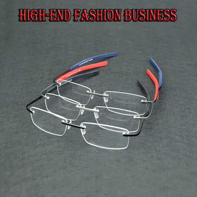 11c11dce41 Online Shop 2017 frameless eye glasses frames for men elastic mirror ...