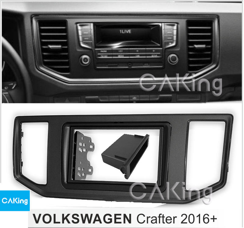 Single Double Din Car Fascia Radio Panel for VW VOLKSWAGEN Crafter 2016 Audio Frame Dash Fitting