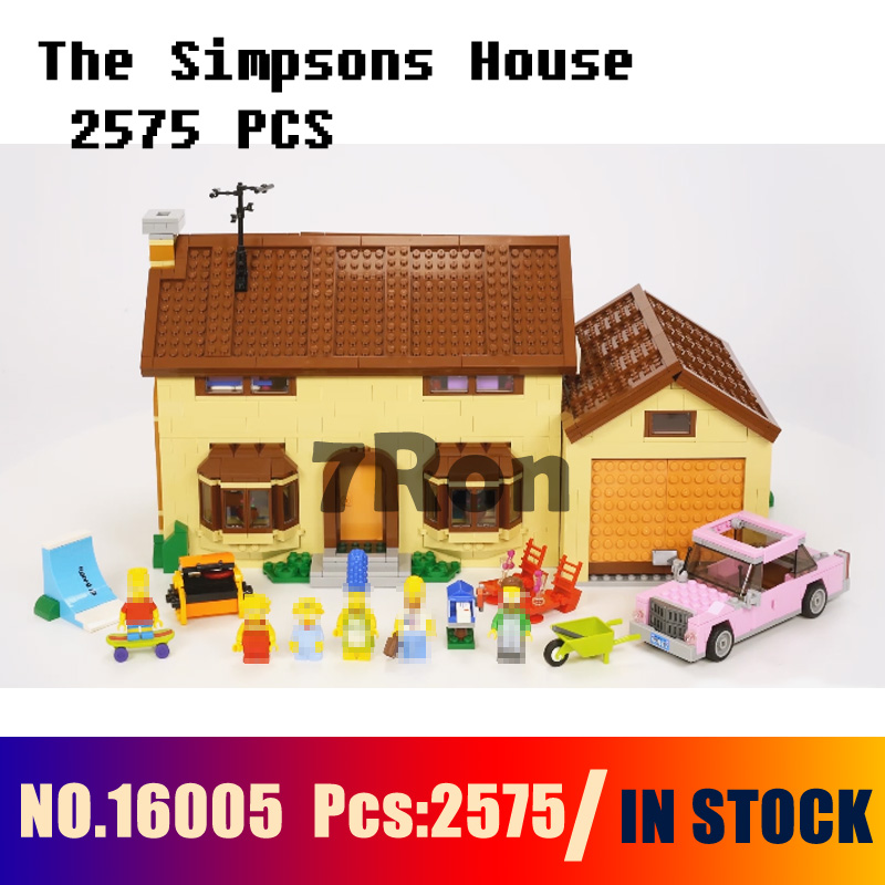 Model building toys hobbies 16005 2575pcs Simpsons House Compatible With lego Simpsons city 71006 Blocks Educational DIY Bricks china brand educational toys for children diy building blocks 3in1 seaside house 7346 compatible with lego