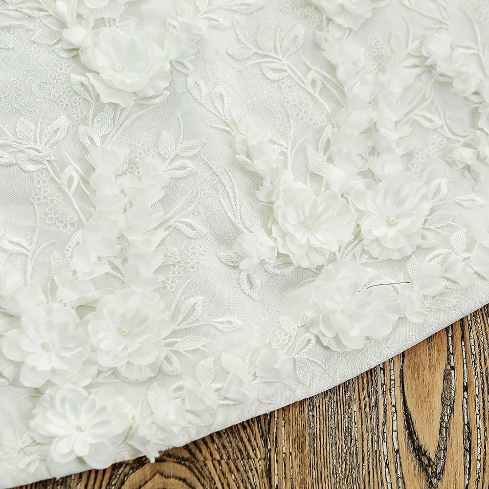 SL-128 Custom Made Satin Kortärmad Bollkledda Bröllopsklänning - Bröllopsklänningar - Foto 6