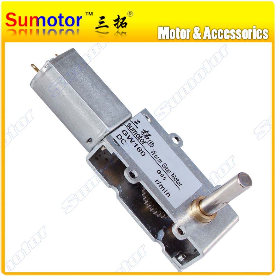 цена на GW180 DC 6V 12V small micro Worm gear motor Low speed High torque Ultra Thin Slim gear box Reversible Electric engine Robot Lock