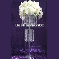 Tall120cm 10pcs Lot K9 Ferris Wheel Acrylic Wedding Centerpiece Stand Wedding Candelabra Double 2 Tiers Top