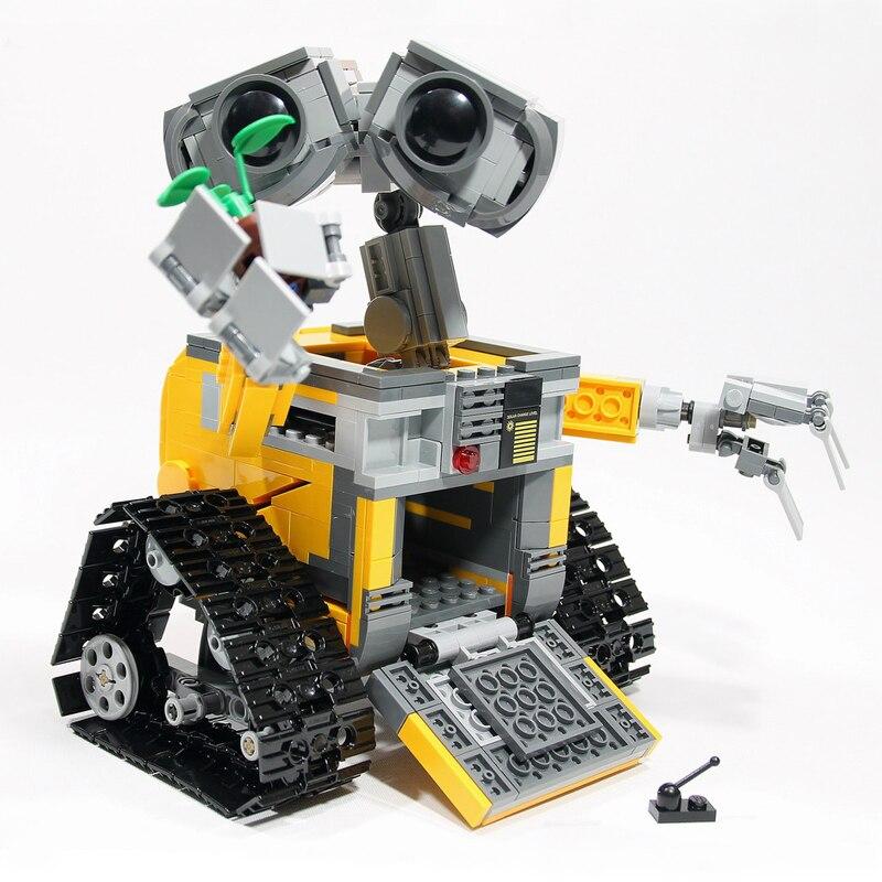 687 Pcs Wall E Building Blocks Ideas Robot WALL-E Building Bricks Kits Blocks Toys for Children Gift Compatible Legoings 21303 2017new lepin16003 idea robot wall e building set kitstoys e kits blocks single sale brickstoystoys for childrenbirthdaygifts
